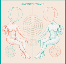 Amongst Waves Cover. A Design&Illustration project by Dani Cambeiro - 27-08-2015