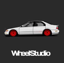 Ilustracion // Honda Accord 98 . Un proyecto de Ilustración y Diseño de automoción de WheelStudio  - 20-01-2016
