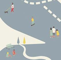 DGT  Convivir, compartir, respetar_Cartel. Un proyecto de Ilustración y Diseño gráfico de Lidia Lobato LLO - 22-01-2016