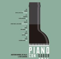 Piano con sabor 2016. Un proyecto de Publicidad y Diseño gráfico de Javier Leal - 11-02-2016