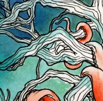 Bosques Acuáticos. Pulpo. Um projeto de Ilustração de JO.VEN         - 01.02.2016