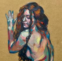 Acrylic on wood. Un proyecto de Dirección de arte, Bellas Artes y Pintura de Ana Maturana - 08-02-2016