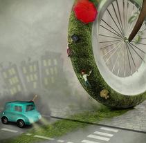 Ve en Bici. Un proyecto de Ilustración y 3D de David  Luengo Torrejón - 12-02-2016