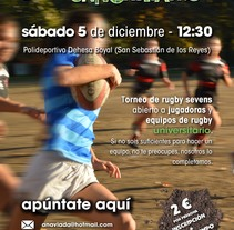 II torneo de Rugby 7s universitario. A Design, and Advertising project by Aurora Redondo García         - 01.12.2015