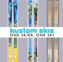 Skis KustomSkis. A Accessor, and Design project by Samuel Bellón         - 24.02.2016