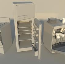Props - Electrodomésticos. A 3D project by Carla González García         - 03.05.2015