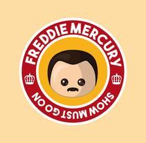 Homenaje a Freddie Mercury. Un proyecto de Diseño e Ilustración de Veronica Almech         - 06.03.2016