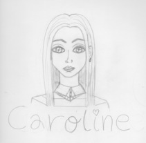 Caroline. A Illustration, and Character Design project by Sara Cuenca Segovia - 07-03-2016