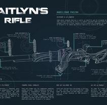 Infografía. Rifle de Caitlyn, League of Legends. A Design&Illustration project by Julia López de Juan Abad          - 11.03.2016
