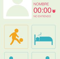 Maqueta gráfica para aplicación móvil. Um projeto de Design, UI / UX, Design de acessórios, Design gráfico, Design interativo e Web design de Juan Sebastian Bazzani Delgado         - 15.03.2016