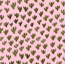 Cactus everywhere. . A Illustration, and Graphic Design project by moon_illustrator         - 15.03.2016