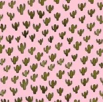Cactus everywhere. . Um projeto de Ilustração e Design gráfico de moon_illustrator         - 15.03.2016