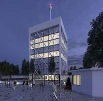 3D Edificios oficinas. A 3D, and Architecture project by Sergio  Fernández Moreno         - 22.03.2016