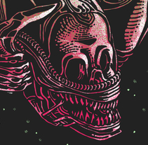 ALIEN HORROR SHOW BY NEW RULE COLLECTIVE. A Illustration, Graphic Design, and Screen-printing project by Copete Cohete         - 04.04.2016