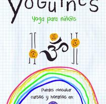 Yoguines-Yoga para niños. Un proyecto de Diseño gráfico de Aina Herrero del Val         - 27.03.2016
