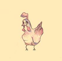 La Gallina de los Huevos de Oro.. Un proyecto de Ilustración, Diseño de personajes y Diseño gráfico de Isaac Garabito - 17-08-2015