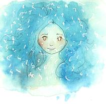 La Luna ahogada. A Illustration project by Gloria Espino         - 06.04.2016