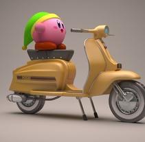 Lambretta Jet 200 y Kirby. Um projeto de Cinema, Vídeo e TV, 3D, Animação, Design de personagens e Pós-produção de Àlvaro Tobar Orte         - 06.04.2016