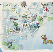 Mapas Desigual: Singapur y Milán. Un proyecto de Diseño e Ilustración de Jaume Montserrat         - 07.04.2015