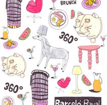 Barceló Raval Hotel. Um projeto de Design, Direção de arte, Artes plásticas e Design gráfico de Susana López         - 10.04.2016