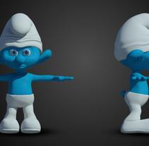3D Smurf. Um projeto de 3D de Alessio Conte         - 14.04.2016