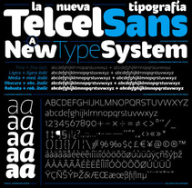 Telcel Sans | Tipografía corporativa. A T, and pograph project by GM Meave - 18.04.2016