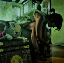 """""""Amanecer en la habitación"""". Pintura en acrílico sobre lienzo.. Un proyecto de Bellas Artes y Pintura de Marcos Vinicius Fernandes Ferreira         - 21.04.2016"""