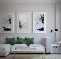 Diseño e infografía Salón comedor. Um projeto de Design, 3D, Arquitetura de interiores e Design de interiores de AnaBelenCorredera         - 21.04.2016
