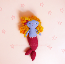 Bonnie mermaid. A Character Design, and Product Design project by Ana         - 24.04.2016