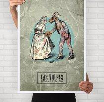 Cartelismo ilustrado. Cartel para el grupo de punk Las Vulpes.. A Illustration, and Graphic Design project by Uri          - 27.04.2016