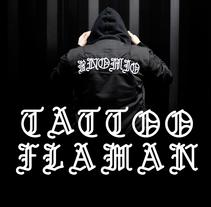 Tattoo Flaman Font #36DaysOfType. Un proyecto de Diseño, Ilustración, Dirección de arte, Diseño editorial, Diseño gráfico, Tipografía, Escritura y Caligrafía de Bnomio ™ - 03-05-2016