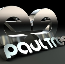 Logo 3D Paul Treef (Dj & producer). A Design, 3D, T, and pograph project by Miguel Sorní Bertolín         - 03.05.2014