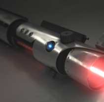 Lightsaber. A 3D, Graphic Design, Post-Production, and VFX project by Juan Carlos Blanco         - 08.05.2016