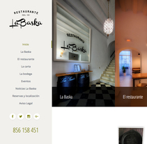 Web corporativa Restaurante La Baska. A Advertising, Photograph, Art Direction, Graphic Design, Information Architecture, Marketing, Web Design, Web Development, Cop, writing, and Social Media project by Chelo Fernández Díaz - 14-12-2015