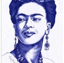 Frida Kahlo. A Illustration project by Madame Bizarre - 16-05-2016
