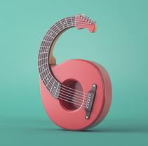 Números | 36 Days of Type 03. Un proyecto de Diseño, Ilustración, 3D, Dirección de arte y Tipografía de camilobelmonte - 23-05-2016