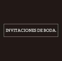 Invitaciones de boda. A Design, Editorial Design, and Graphic Design project by Ion Benitez         - 01.05.2015