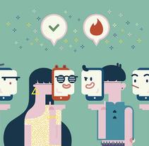 REVISTA ÏU (Club Ushuaïa). Tinder. Un proyecto de Ilustración, Publicidad y Diseño editorial de Del Hambre  - 04-07-2016