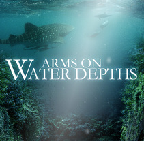 ARMS ON WATER DEPTHS · FILM POSTER PROJECT. A Graphic Design, Collage, and Film project by Patricia Reyes - 12-07-2016