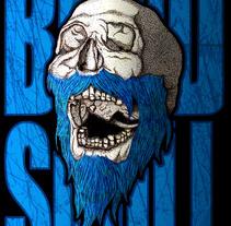 Beard Skull. A Illustration project by HǢl Phlegathon - Jul 14 2016 12:00 AM