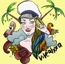 Propuesta Concurso Ron Barceló #CertamenViveAhoraArt. Um projeto de Design e Ilustração de Marta Taboada - 29-11-2015