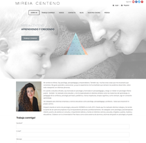 Web para Youtuber Mireia Centeno. A Br, ing, Identit, and Web Development project by Luna Carvajal - 30-06-2016