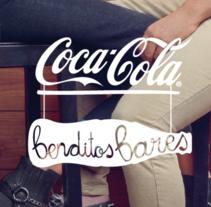 """Logotipo """"Benditos Bares"""", Coca Cola, 2013. Un proyecto de Ilustración, Publicidad y Dirección de arte de Amaia Ugarte - 28-02-2013"""