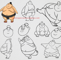 Diseño de personaje Sumo. A Character Design project by Agustina Perciante         - 17.07.2016
