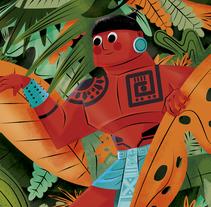 POSTALES CÓSMICAS. Un proyecto de Diseño de personajes, Diseño editorial e Ilustración de Jhonny  Núñez - Jueves, 18 de agosto de 2016 00:00:00 +0200
