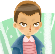 Fan Art - Eleven (Stranger Things). A Illustration project by Marian Alhama         - 26.08.2016