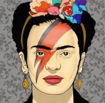 """Ilustración """"Frida khalo Bowie"""". Un proyecto de Ilustración de Silk  Belvís  - 27-08-2016"""