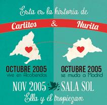 Historia de Carlitos y Nurita - Infografía. A Design, and Graphic Design project by Nuria Muñoz         - 29.08.2016