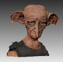 Dobby demacrado. A 3D project by Patricia Galán         - 03.09.2016