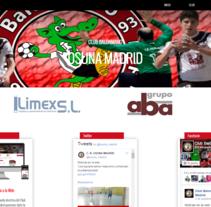 Pagina Web realizada para el Equipo de Balonmano Osuna Madrid. Un proyecto de Diseño Web de Emilio Jesús Pérez Pileta         - 16.05.2016